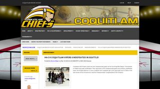 Coquitlam Minor Hockey - H4-C4 Coquitlam Vipers Undefeated in ...