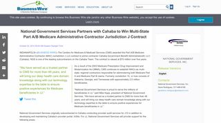 National Government Services Partners with Cahaba to Win Multi ...