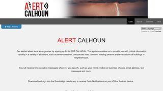 Alert Calhoun - Login to your account - CAHAN/Everbridge Login