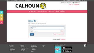 Calhoun WFO   Sign In