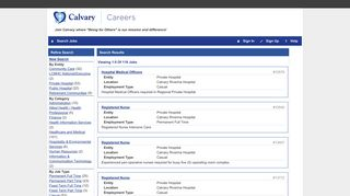 Your job search found 13 jobs at Public Hospital - Calvary Careers