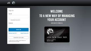 BRP Credit Card: Sign On