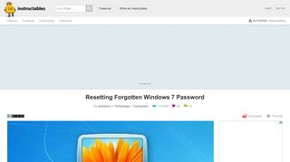 Resetting Forgotten Windows 7 Password: 7 Steps