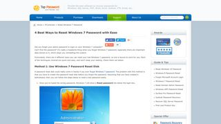 4 Best Ways to Reset Windows 7 Password with Ease