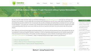 Forgot Windows 7 Password, Can I Reset Windows 7 Login Password?