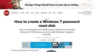 How to create a Windows 7 password reset disk - CNET