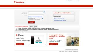 Sign in to Scotiabank Digital Banking Services