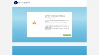 SBI CANADA Bank e-Banking: Internet Banking Login