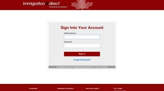 Sign-In Page - Immigration Direct