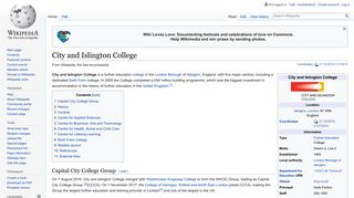 City and Islington College - Wikipedia