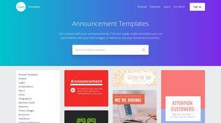 Customize 1,735+ Announcement templates online - Canva