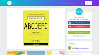 Typography Class Sign-up Poster - Templates by Canva