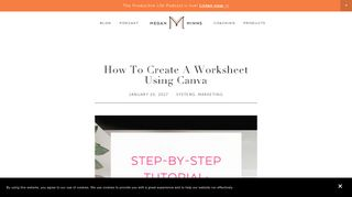How To Create A Worksheet Using Canva — Megan Minns