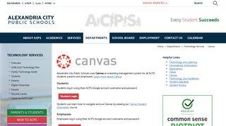 Technology Services / Canvas - Alexandria City Public Schools