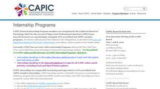 Internship Programs - CAPIC
