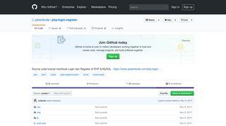 GitHub - petanikode/php-login-register: Source code tutorial membuat ...