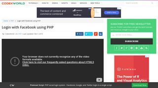 Login with Facebook using PHP - CodexWorld
