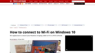 How to connect to Wi-Fi on Windows 10 - Tech Advisor
