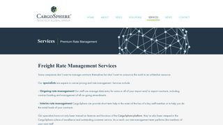 Freight Rate Management | Carrier Rate Management ... - CargoSphere