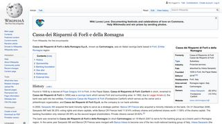 Cassa dei Risparmi di Forlì e della Romagna - Wikipedia