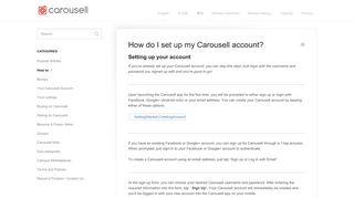 How do I set up my Carousell account? - Carousell Help - Frequently ...
