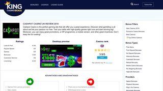 Cashpot Casino Review & Ratings January 2019 - kingcasinobonus