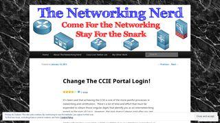 Change The CCIE Portal Login! | The Networking Nerd