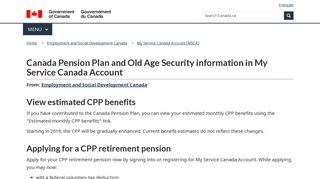 Canada Pension Plan (CPP) and Old Age Security (OAS) - Canada.ca