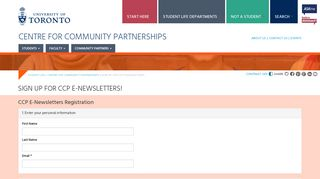 Sign up for CCP e-newsletters! | Student Life