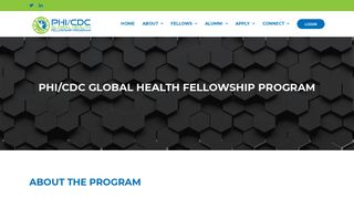 PHI/CDC GLOBAL HEALTH FELLOWSHIP PROGRAM – PHI / CDC