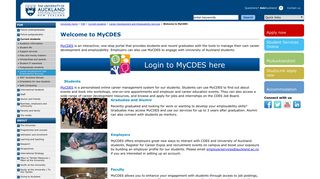 Welcome to MyCDES - The University of Auckland