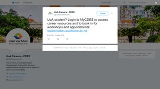 UoA Careers - CDES on Twitter: