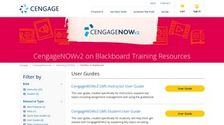 CNOWv2 on Blackboard - Training Resources - Cengage