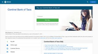 Centinel Bank of Taos: Login, Bill Pay, Customer Service and Care ...