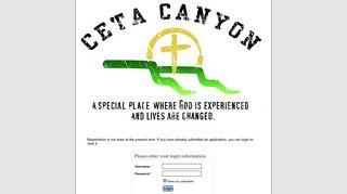 Ceta Canyon Camp & Retreat Center - Login