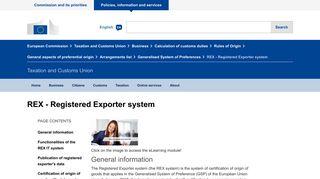 REX - Registered Exporter system - European Commission