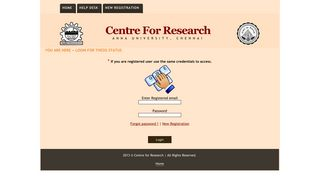 Login - Centre For Research - Anna University