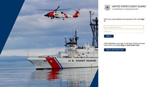 Sign In - United States Coast Guard