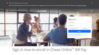 Sign in to use Online Bill Pay- Business Banking - Chase.com