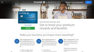 Chase Ink Plus Business Credit Card Rewards | Chase.com