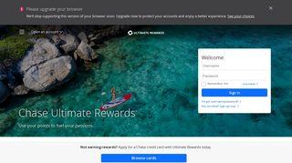 Ultimate Rewards | Credit Cards | Chase.com