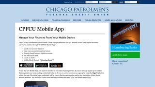Mobile App | Chicago Patrolmen's Federal Credit Union