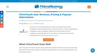 ChiroTouch User Reviews, Pricing & Popular Alternatives