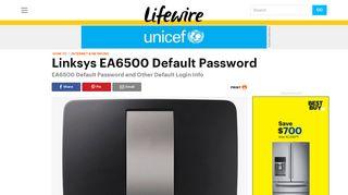 Linksys EA6500 Default Password - Lifewire