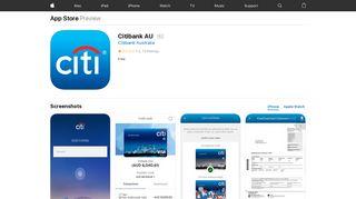 Citibank AU on the App Store - iTunes - Apple