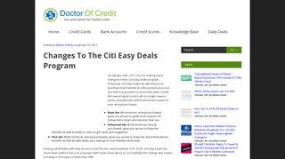 Changes To The Citi Easy Deals Program - Doctor Of Credit