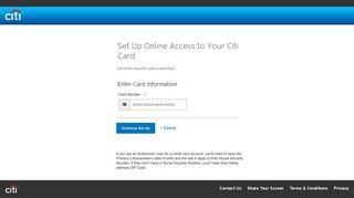 Register for Online Access - Citibank - Citi.com