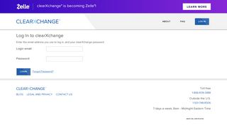clearXchange   Receive payments by email or phone   Login