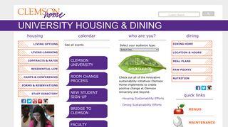 Clemson Home   UNIVERSITY HOUSING & DINING