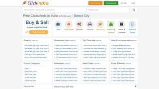 Clickindia Classifieds,Free Classified Ads,Buy Sell Classified Ads